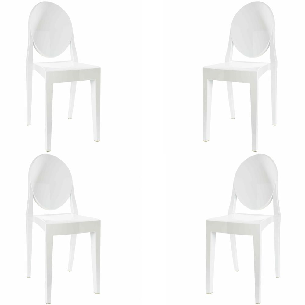 Burton White Side Chair (Set of 4)