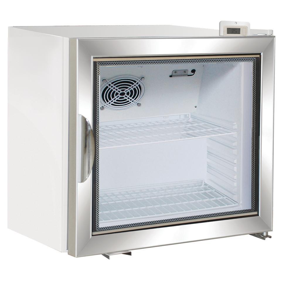 Maxx Cold X-Series 2.0 cu. Ft. Single Door Merchandiser Refrigerator in White with Aluminum Frame Door