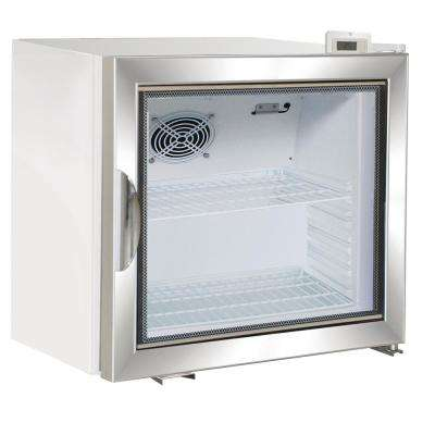 X-Series 2.0 cu. Ft. Single Door Merchandiser Refrigerator in White with Aluminum Frame Door