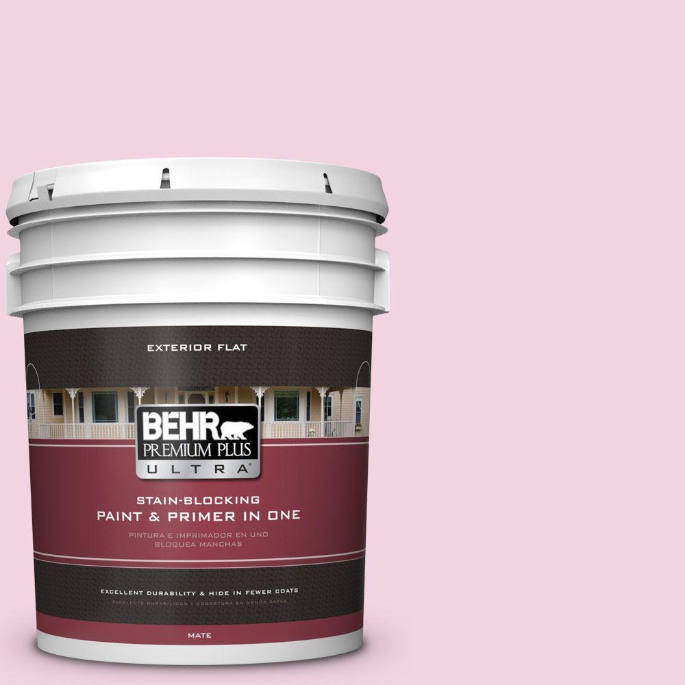 BEHR Premium Plus Ultra 5-gal. #100A-3 Scented Valentine Flat Exterior Paint