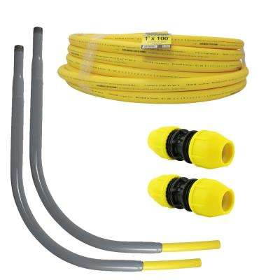 1 in. Polyethylene Gas Pipe New Install Kit (1) 1 in. x 100 ft. Pipe (2) 1 in. Couplers (2) 1 in. Meter Risers