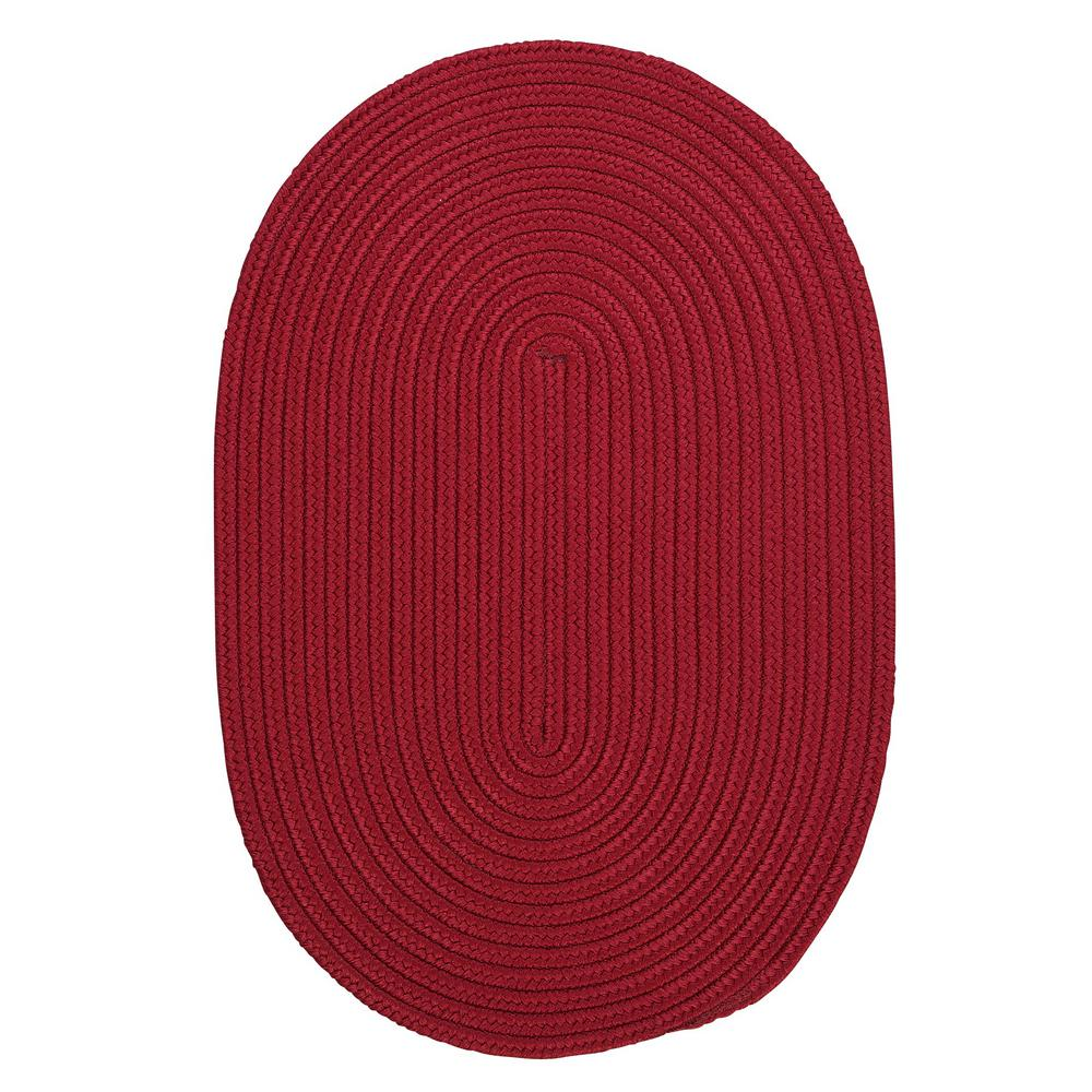 Trends Red 3 ft. x 5 ft. Braided Oval Area Rug