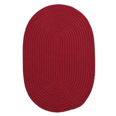 Trends Red 7 ft. x 9 ft. Oval Braided Area Rug