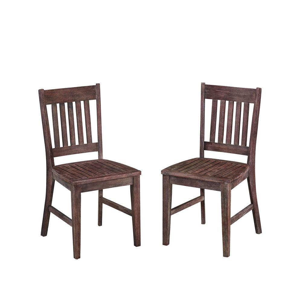 HOMESTYLES Morocco Acacia Wood Patio Dining Chair was $237.19 now $130.94 (45.0% off)