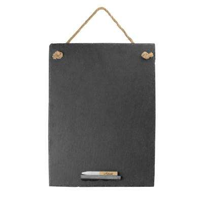 Slate Chalkboard and Soapstone Chalk, 12 by 16-Inch