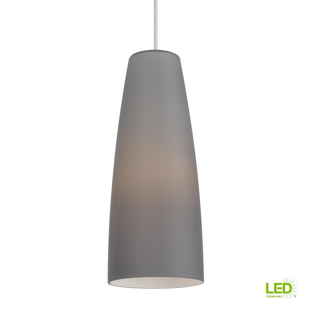Lbl lighting mati 1 light satin nickel led pendant