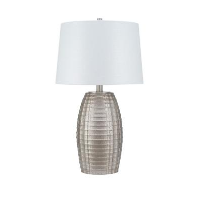 Cresswell 30 in. Antique Silver Global Table Lamp