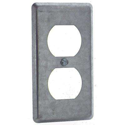 1-Gang Steel Utility Duplex Receptacle Cover (Case of 25)