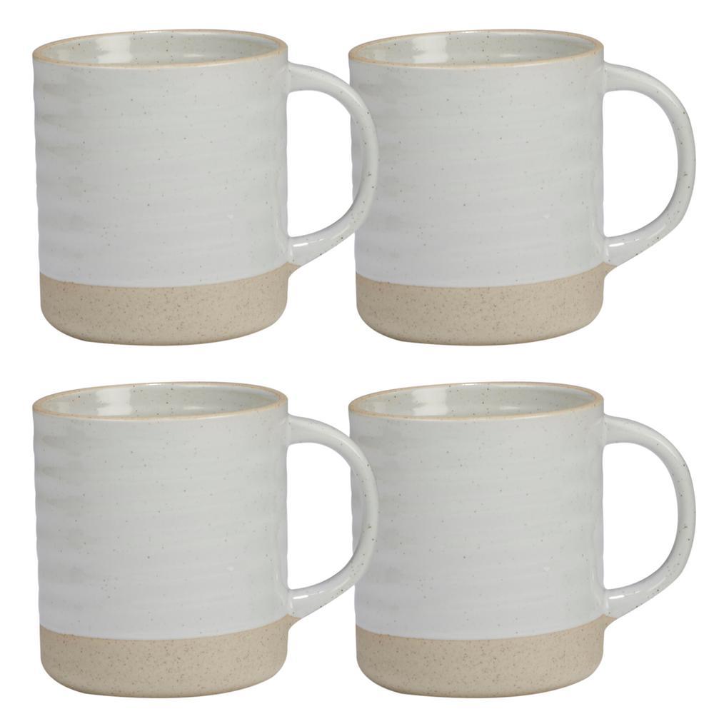 Certified International Artisan 4-Piece Multi-Colored 22 oz. Mug Set 23782SET4