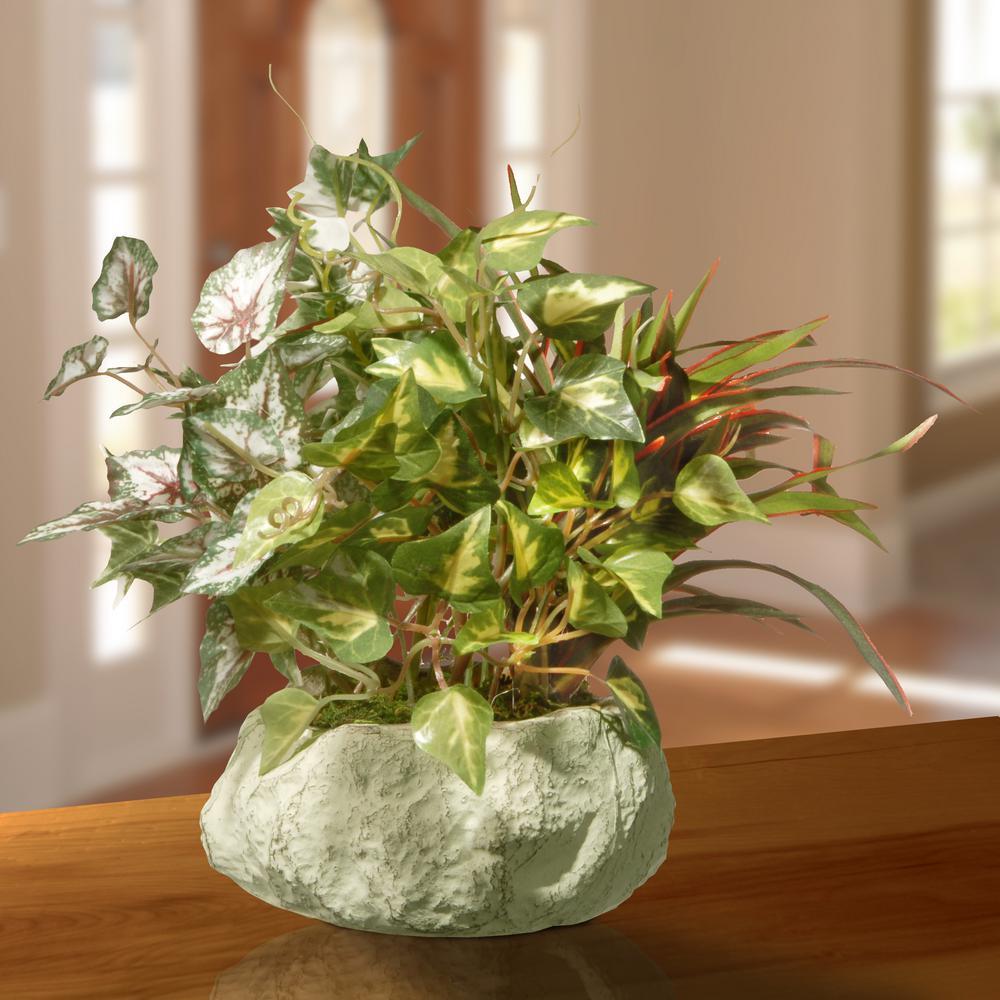 21.5 in. Table Plant in Ceramic Pot