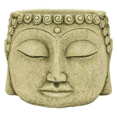 6.75 in. Green Buddha Face Flower Pot