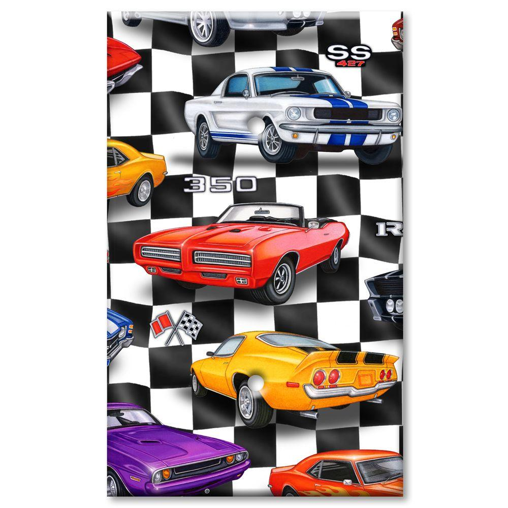 Art Plates Muscle Cars Blank Wall Plate