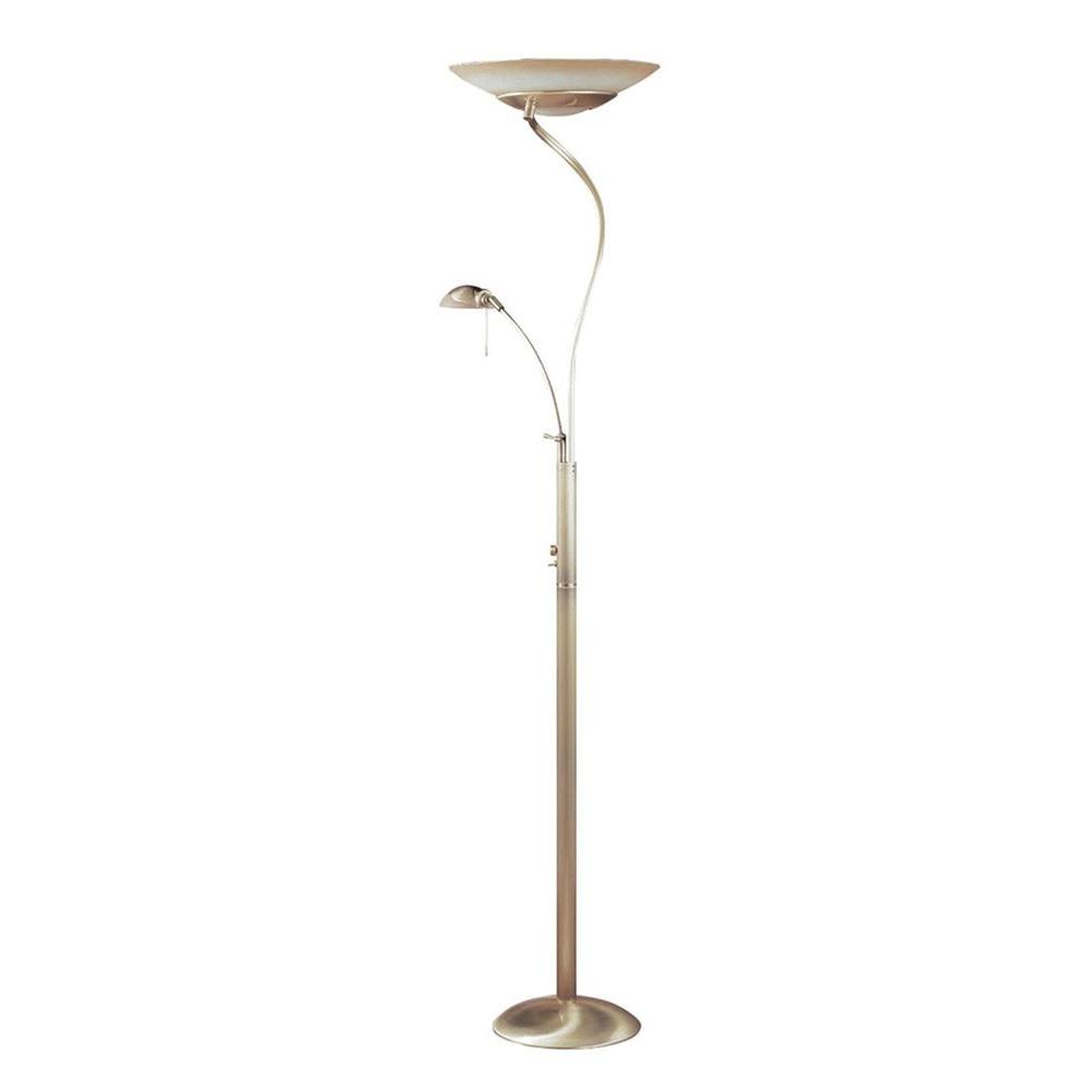 Filament Design Cassiopeia 44 in. Nickel Halogen Floor Lamp