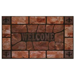 Achim Clay Stone 18 inch x 30 inch Raised Rubber Door Mat by Achim