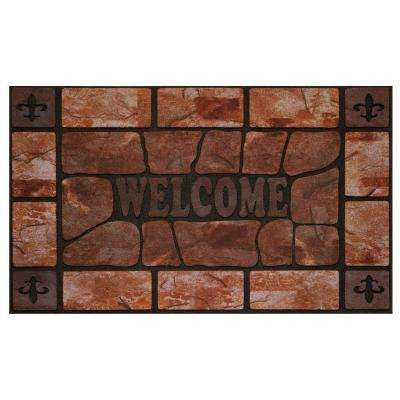 Clay Stone 18 in. x 30 in. Raised Rubber Door Mat