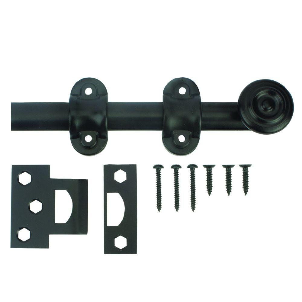 Everbilt 6 In Oil Rubbed Bronze Decorative Surface Bolt 25597 The Home Depot