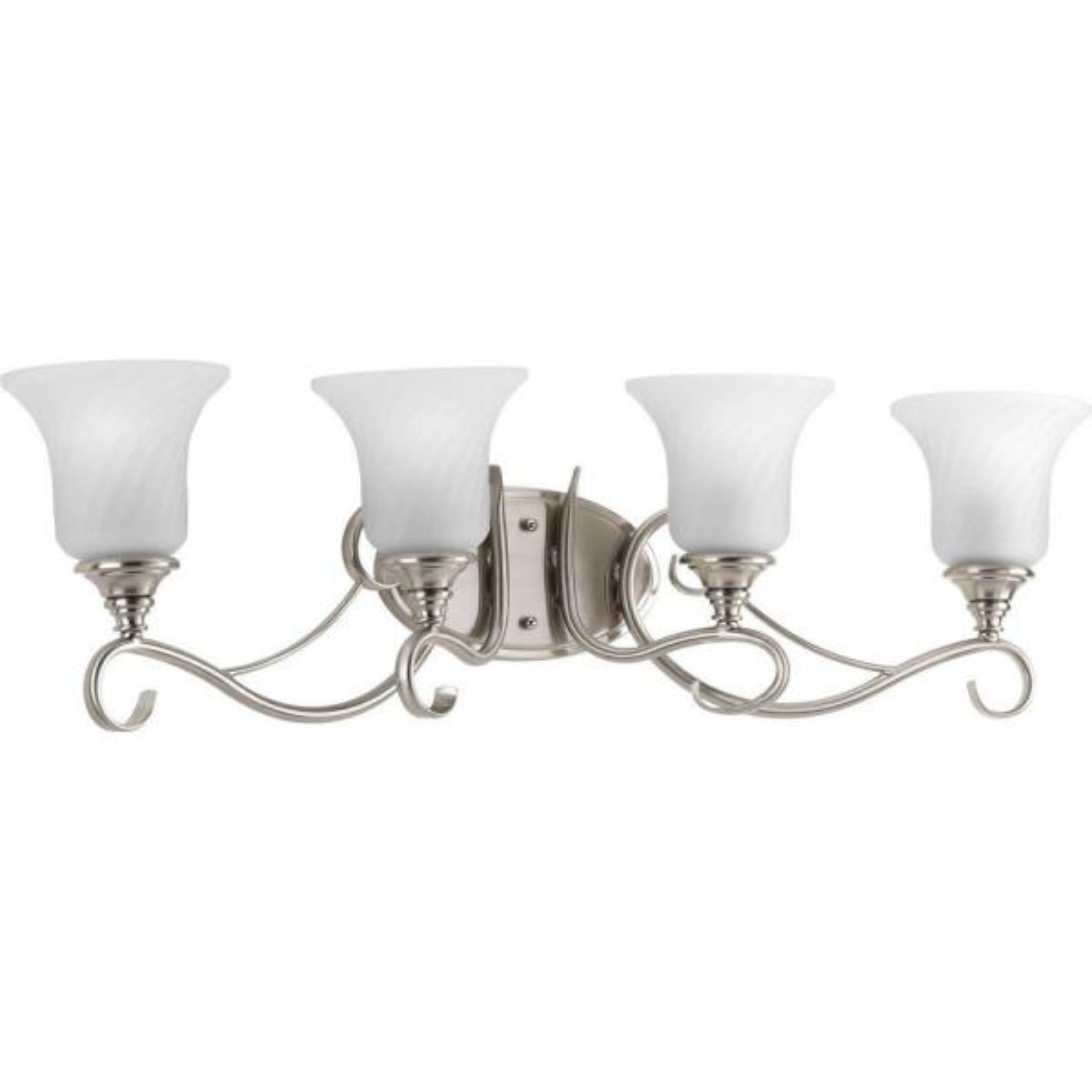 Kensington Collection 4-Light Brushed Nickel Bath Light
