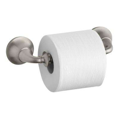 Forte Traditional Wall-Mount Double Post Toilet Paper Holder in Vibrant Brushed Nickel