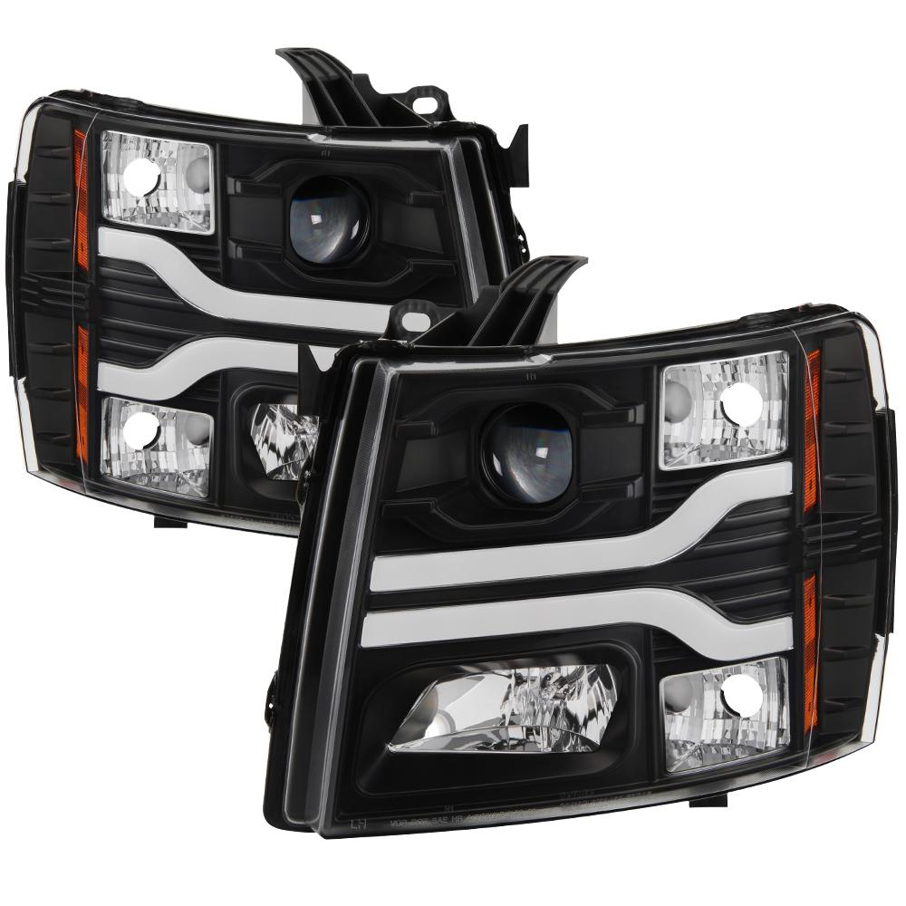 Chevy Silverado 1500 07 13 2500hd 3500hd 14 Version 3 Projector Headlights Led Drl Black
