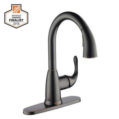 Dylan Single-Handle Pull-Down Sprayer Kitchen Faucet in Bronze