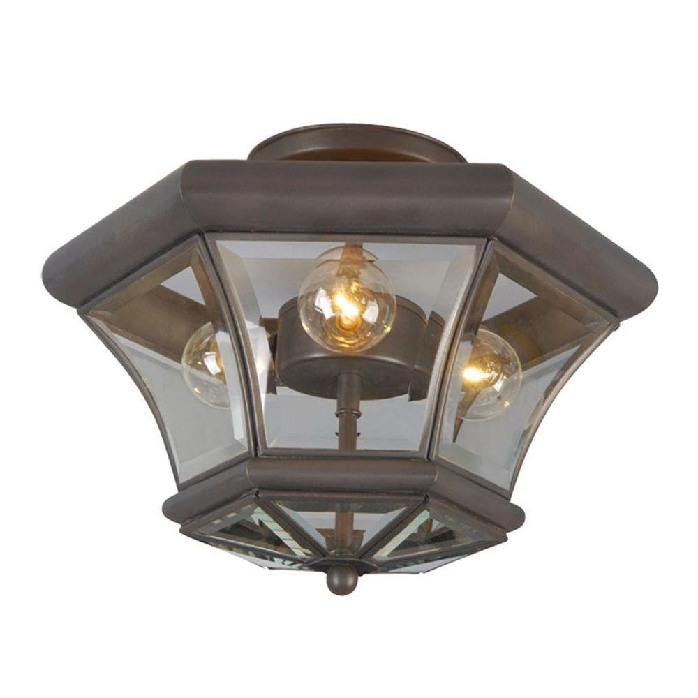 Livex Lighting Providence 3 Light Ceiling Bronze