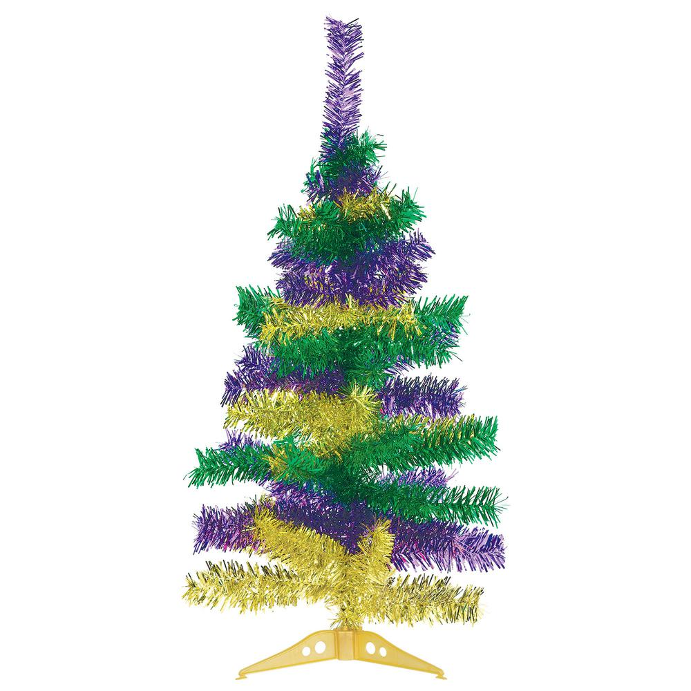 Wire Christmas Tree.Amscan 18 In Mardi Gras Wire Tinsel Tree 2 Pack