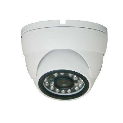 Wired 550TVL 1/3 in. 3 Axis IR Dome Standard Surveillance Camera with Super Sensitivity CCD in White
