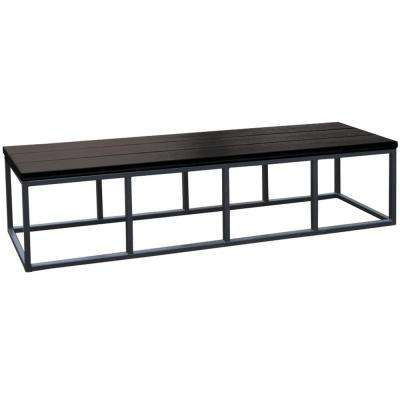 16.5 in. x 77 in. x 18 in. Spa Bench in Smoke