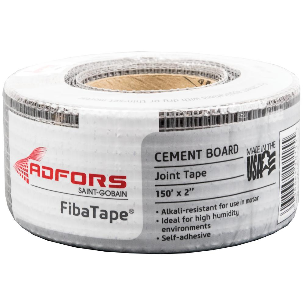 Saint-Gobain ADFORS Alkali-Resistant 2 in. x 150 ft. Self-Adhesive Mesh Cement Board Tape FDW8691-U