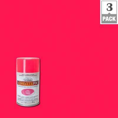 3 oz. Fluorescent Pink Spray Paint (3-Pack)