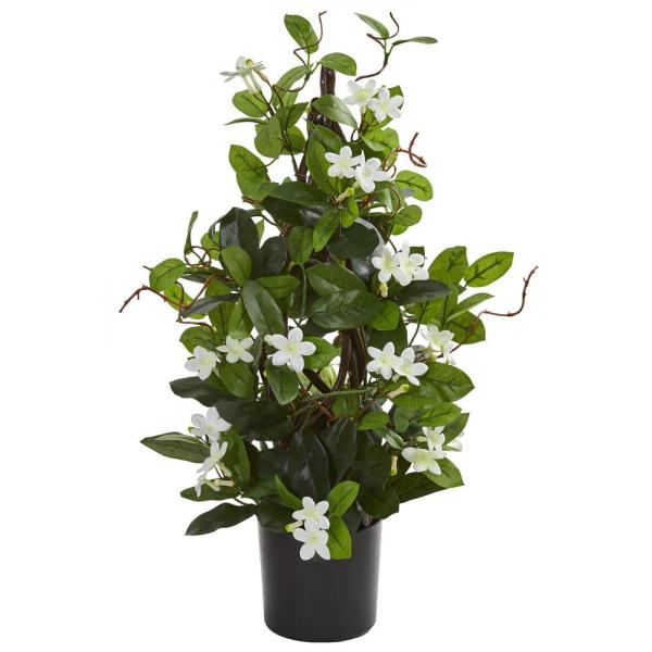 Nearly Natural Indoor 24 In Stephanotis Artificial Climbing Plant 8163 Wh The Home Depot