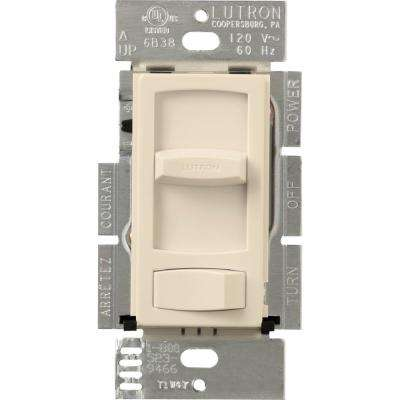 Skylark Contour 300-Watt Single-Pole/3-Way Preset Electronic Low-Voltage Dimmer, Light Almond