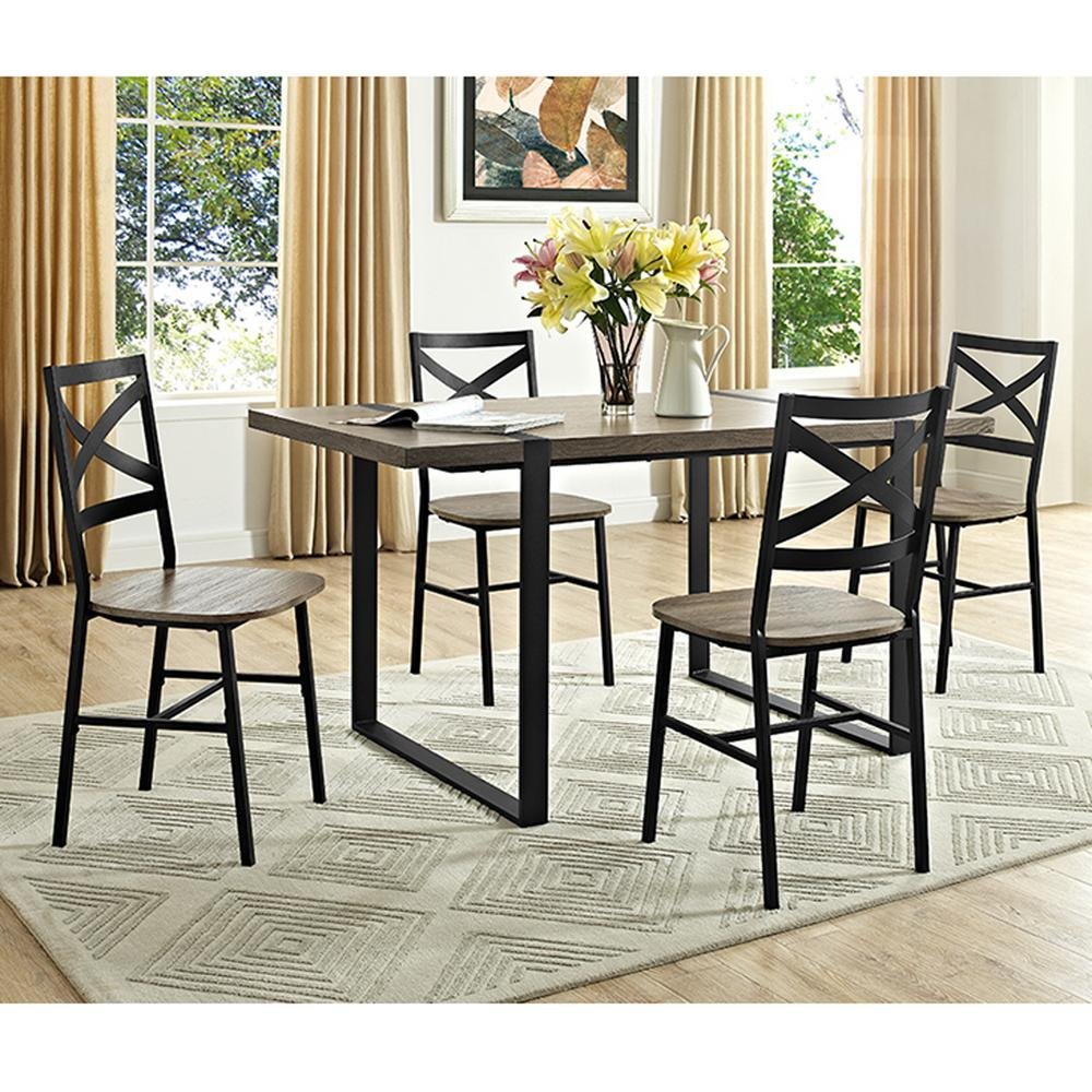 Walker Edison Furniture Company Urban Blend 60 In. Driftwood Wood Dining  Table
