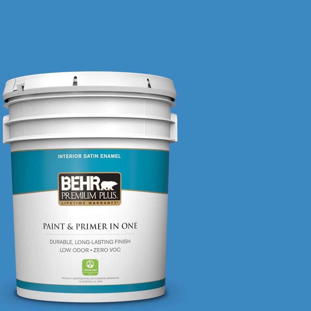 BEHR Premium Plus 5-gal. #P520-5 Boat House Satin Enamel Interior Paint