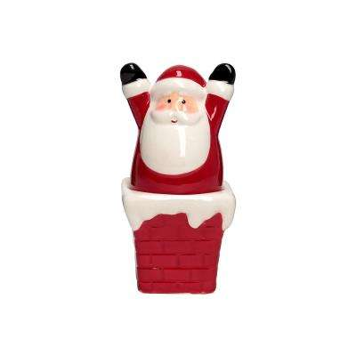 Ho Ho Ho 1.5 oz. Multicolor Ceramic Salt and Pepper Shakers with Figural Shapes