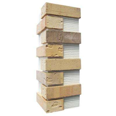 21 in. x 15 in. x 0.5 in. Pony Express Brickweb Thin Brick Corners