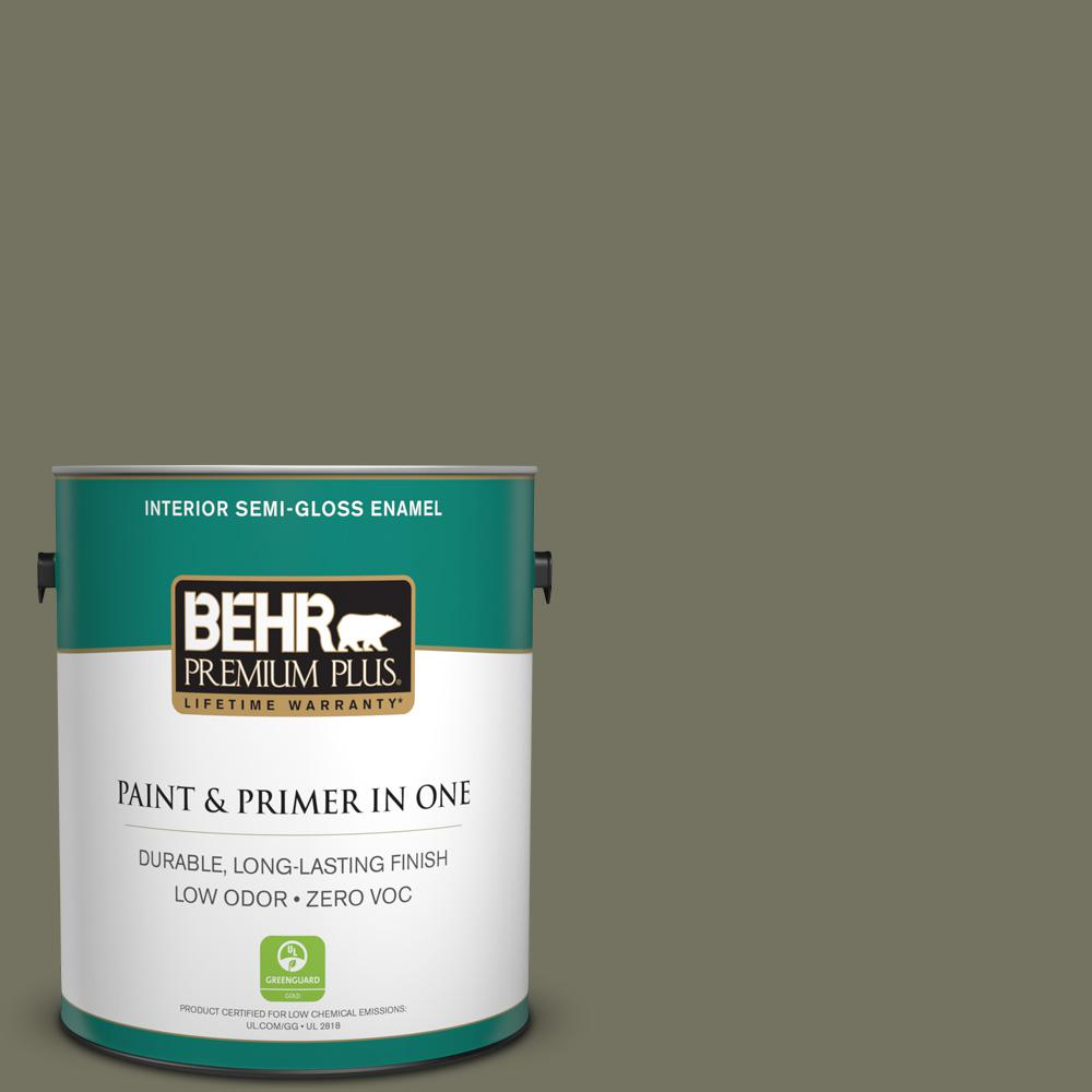 1-gal. #BXC-20 Amazon River Semi-Gloss Enamel Interior Paint