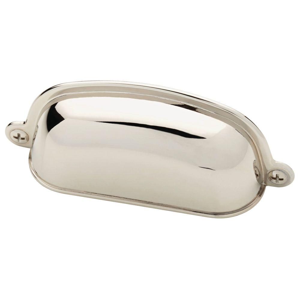 Martha Stewart Living 3 in. (76mm) Polished Nickel Canopy Cup Pull