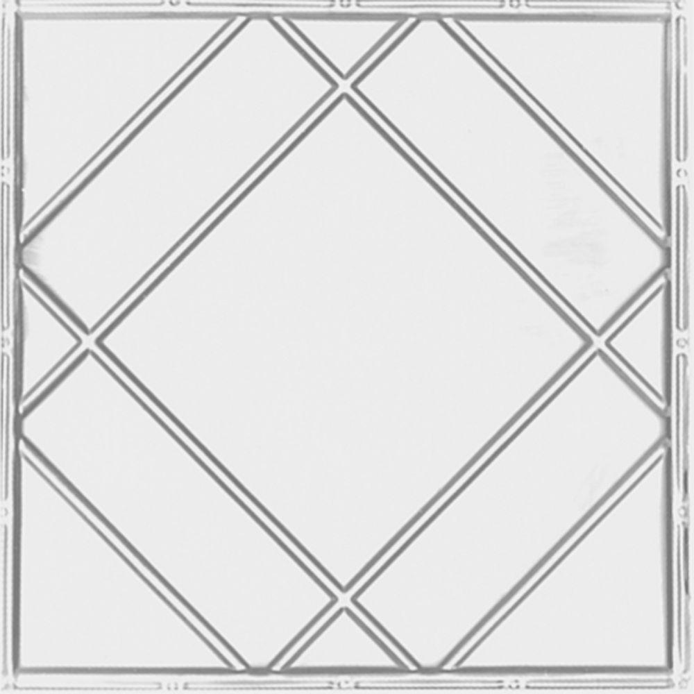 Shanko 517 White 2 ft. x 4 ft. Nail-Up Ceiling Tile