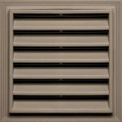 12 in. x 12 in. Square Gable Vent in Clay