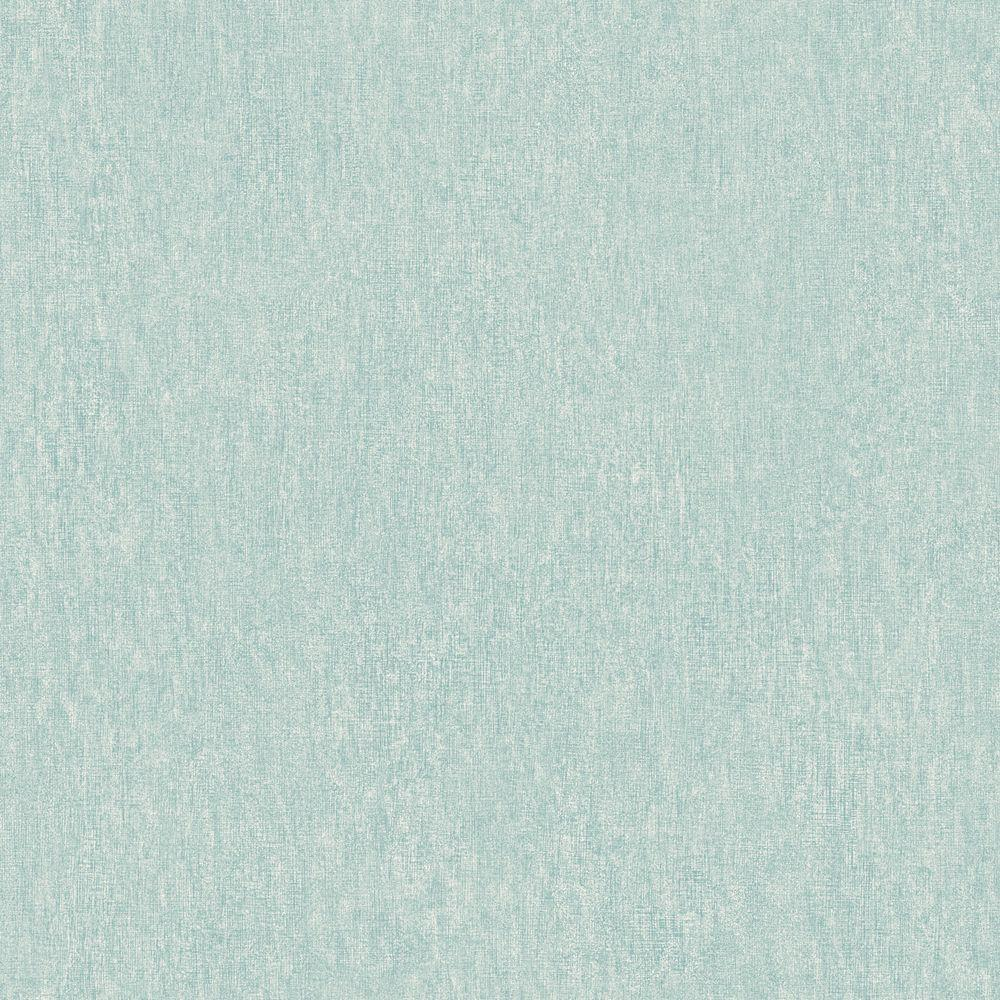 The Wallpaper Company 56 sq. ft. Blue Pastel Linen Faux Texture Wallpaper