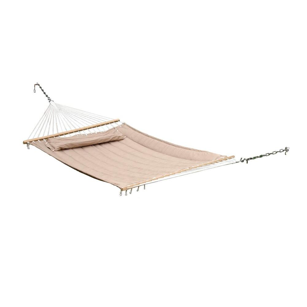 premium poly double hammock in taupe 52325 dtp   the home depot smart garden monte carlo 13 ft  premium poly double hammock in      rh   homedepot