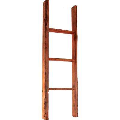 15 in. x 36 in. x 3 1/2 in. Barnwood Decor Collection Natural Barnwood Vintage Farmhouse 2-Rung Ladder