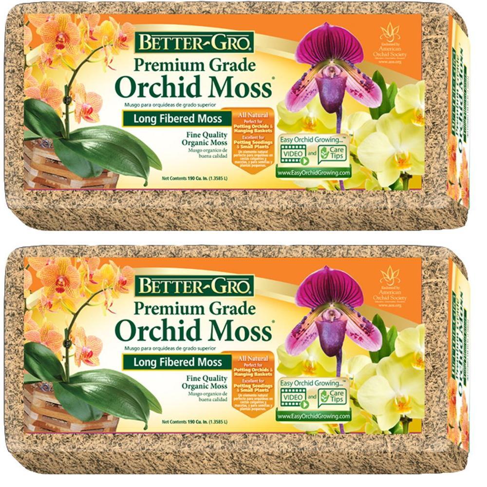 Better-Gro 1/8 cu. ft. Premium Grade Orchid Moss (2-Pack)