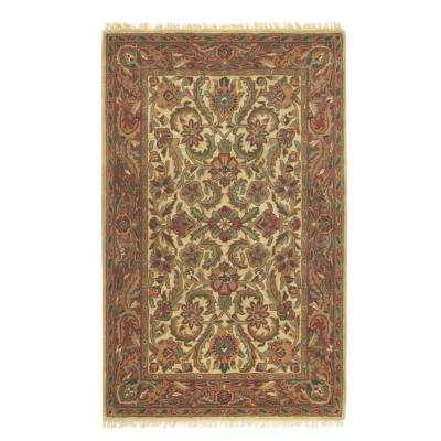 Chantilly Beige/Rust 9 ft. 9 in. x 13 ft. 9 in. Area Rug