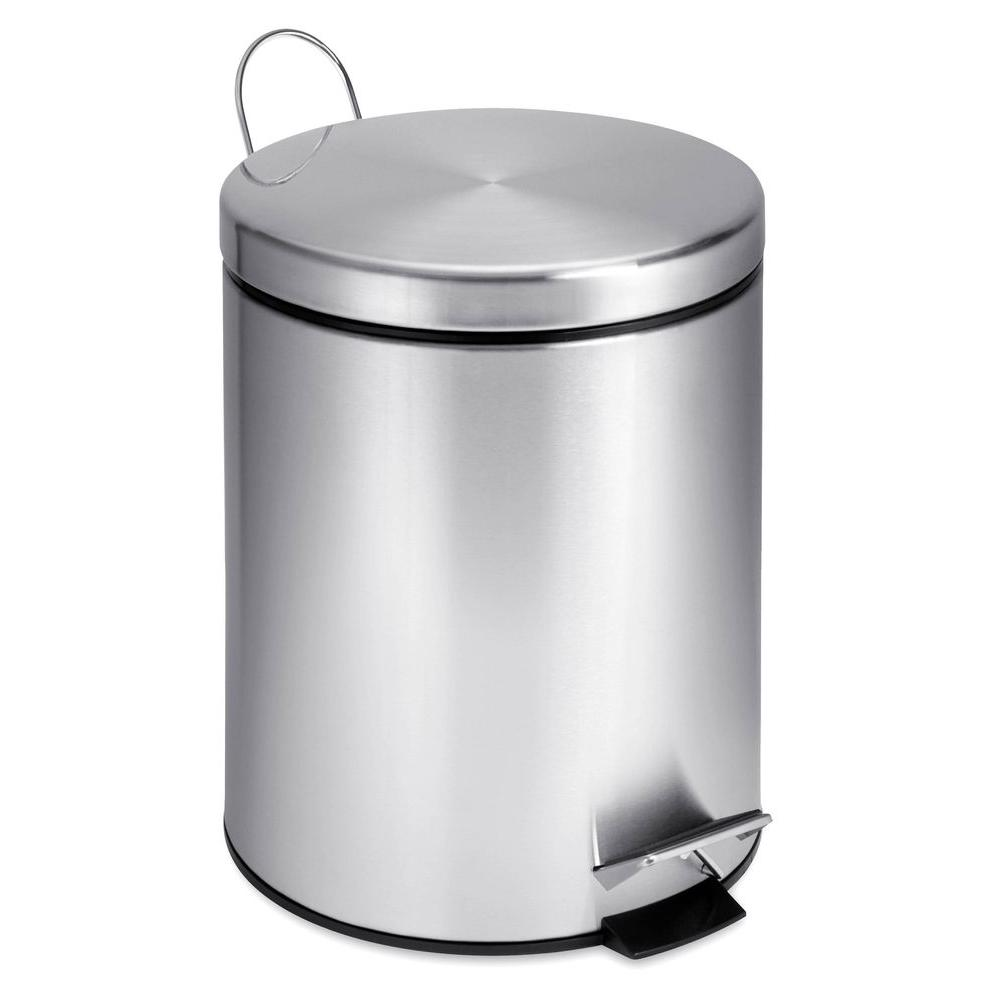 Incroyable Honey Can Do 1 Gal. Stainless Steel Round Step On Touchless Trash