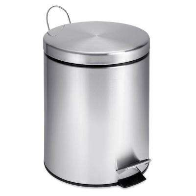 1 Gal. Stainless Steel Round Step-On Touchless Trash Can