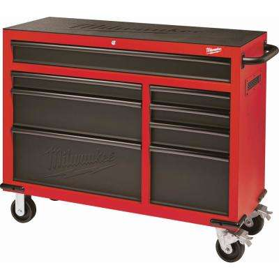 8 Drawer Roller Cabinet Tool Chest In Red And Black