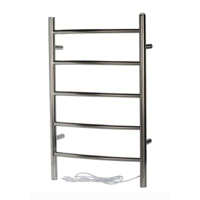 Capri 56-Bar Stainless Steel Electric Towel Warmer with Wall Mount Hardwired/Softwired Combo in Chrome