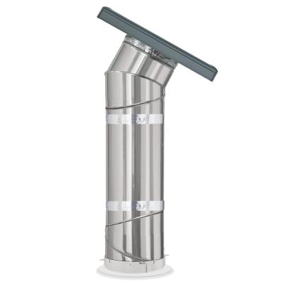 Wildfire Glass 14 in. Sun Tunnel Curb Mount Tubular Skylight with Rigid Tunnel and Shingle Roof Flashing
